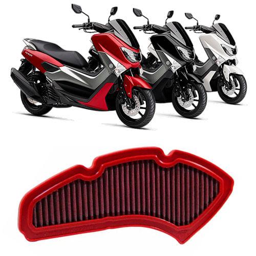 filtro-de-ar-esportivo-lavavel-marca-italiana-bmc-filter-aplicao-yamaha-nmax-160-ano-2016-2017-2018-2019
